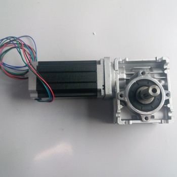 5:1 Worm Gearbox RV040 Speed Reducer 18mm Output Nema34 Stepper Motor 4A 98MM 6.5NM 930Oz-in Convert 90 Degree for CNC Router