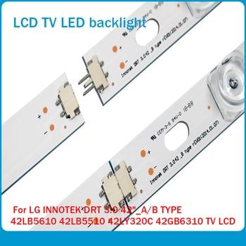 8pcs x42 inch LED Strip for LG INNOTEK DRT 3.0 42_A/B TYPE 42LB5610 42LB5510 42LY320C 42GB6310 TV LCD Replacement 825mm led strip 8 leds for lg innotek drt 3 0 42 a b type 42lb5610 42lb5510 42ly320c 42gb6310 42lb552v tv lcd replacement 4sets