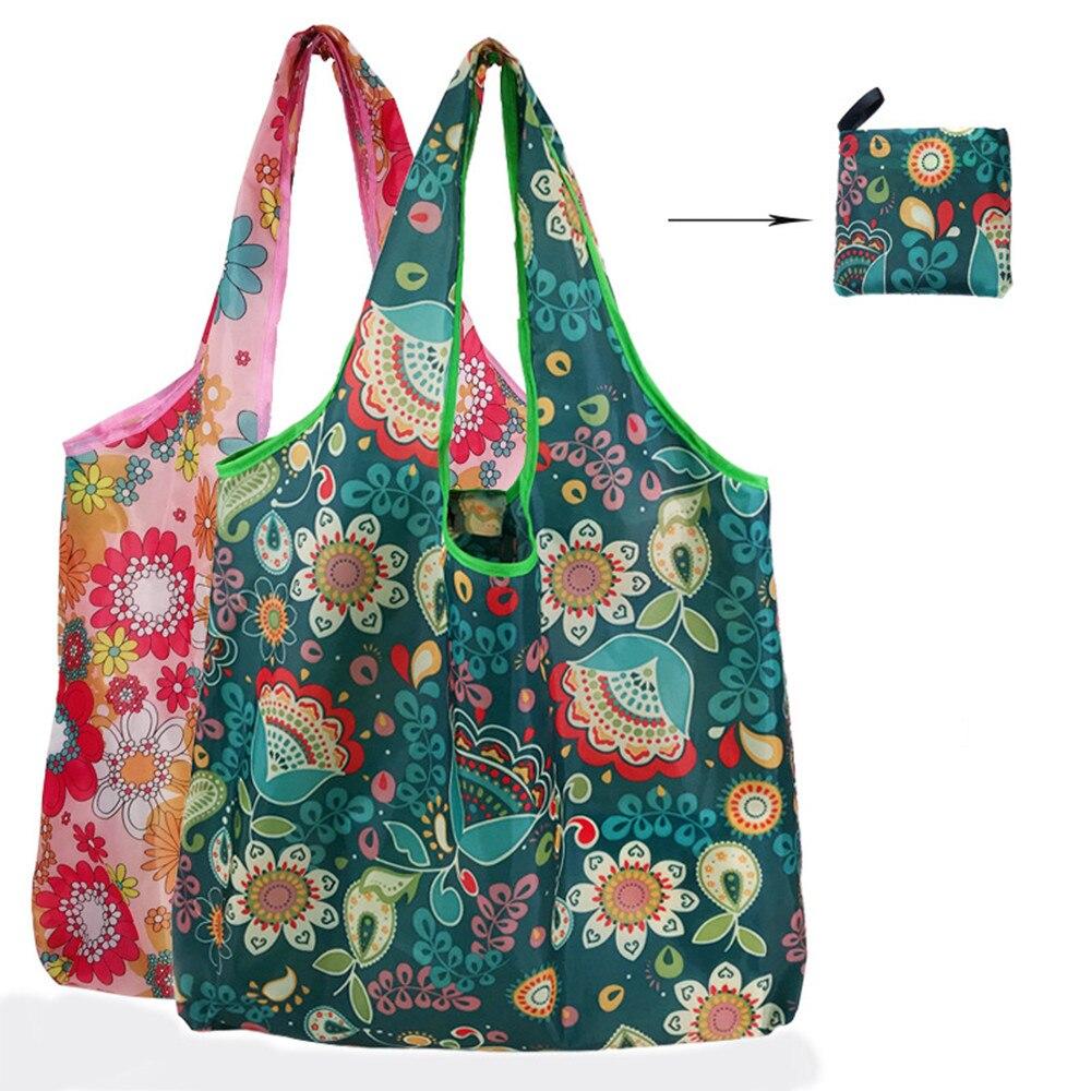 ISKYBOB New Reusable Einkaufstaschen Frauen Faltbare Einkaufstasche Tragbare Tuch Eco Grocery Tasche Klapp Große Kapazität Handtaschen|Einkaufstaschen|   - AliExpress