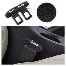 1 Uds coche insignia hebilla para cinturón de seguridad Auto logotipo asiento Clip para Jeeps Grand Cherokee comandante renegado Wrangler brújula patriota productos