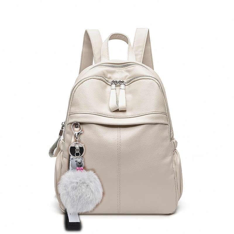 Hoge Kwaliteit Leer Vrouwen Rugzak Mode Schooltassen Voor Tiener Meisjes Vintage Vrouwelijke Reizen Single Schouder Rugzakken C1306