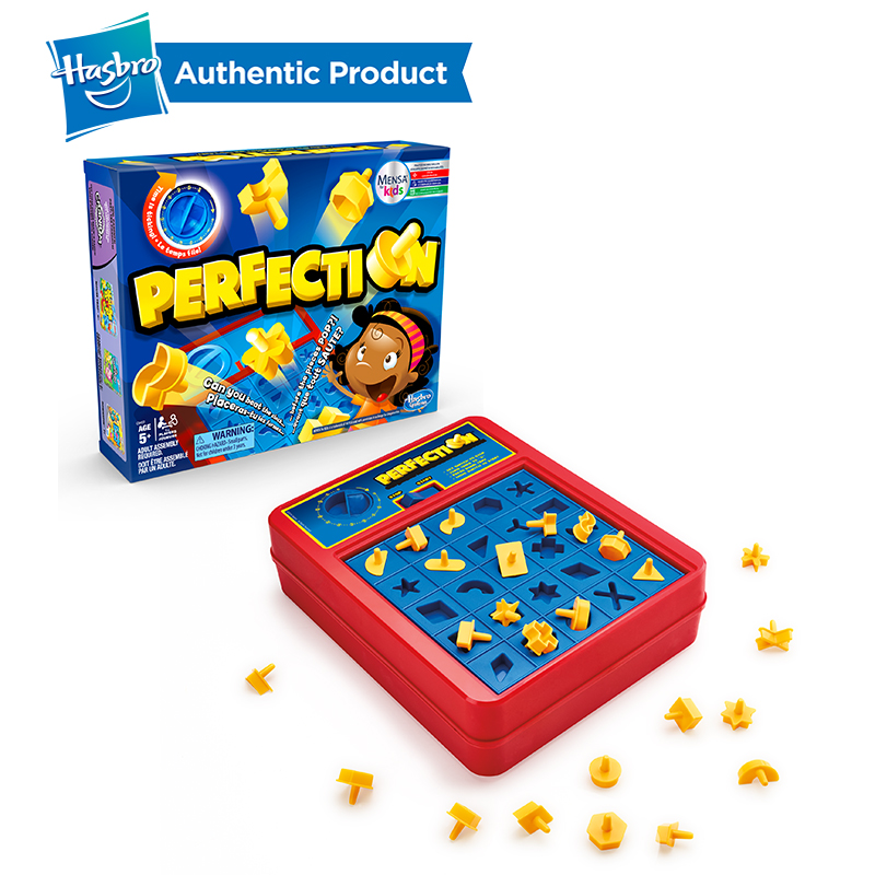 Hasbro Perfection Game Family Night Fun Gaming Hungry Hippos Trivial Pursuit Mouse Trap Don't Break The Ice Guess Who Kids Child