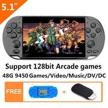 Новая 48 ГБ 128 бит портативная игровая консоль 51 дюймов mp4