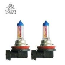 2Pcs H11 12V 55W 3000K Auto Automobile halogen bulb Fog lamps Super Bright Car Yellow Light Bulbs
