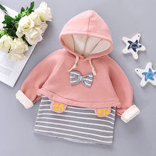 Newborn Dress Infant Baby Girl Winter Coats Jacket Thick Snowsuit Hoodie Fleece Dress Girls Princess Party Warm Dress M840#(China)
