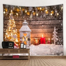Christmas tapestries, holiday background series polyester digital printed household