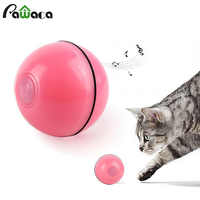 Cat Toys Smart Interactive Automatic Rolling Ball Active Jump Rotating Ball USB Electric Intelligent avoidance obstacle Pet Toy