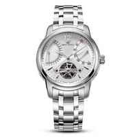 Echtes Seagull uhr 816 425 Retro Schwungrad Skeleton Datum + Tag Display Selbst Wind Mechanische Automatische herren Uhr