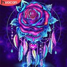HUACAN 5D bricolage diamant peinture Rose couture diamant broderie fleur diamant mosaïque pleine perceuse artisanat décor pour la maison