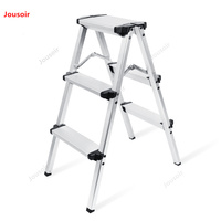 Alüminyum fotoğraf merdiven katlanır katlanır merdiven üç katmanlı boldening genişletme kapalı aracı merdiven CD50 T07