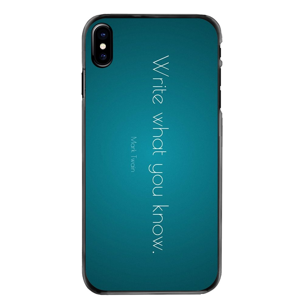 Mobile Phone Cover Write what you know Mark Twain Quote For Sony Xperia X XA XZ M2 M4 M5 C3 C4 C5 T3 E4 E5 Z Z1 Z2 Z3 Z5 Compact image