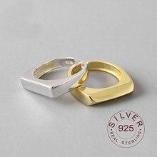 Ins – bague géométrique minimaliste en Argent Sterling 925 Pour femmes, Bijoux redimensionnables, faits à la main, 925 Massif
