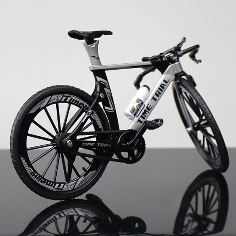 18CM 1:10 Scale Metal Alloy Diecast Bicycle Mountain TT Bike Model Toy Racing Cycle Cross Simulation Bike Children Kids Gift