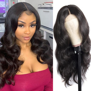 Amanda 4x4 Lace Closure Wigs Human Hair with Baby Hair Preplucked 150% Density Peruvian Body Wave Hair Wigs Remy Hair