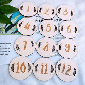 Full-Moon Number Milestone-Card Photography-Props Birthday Nordic-Style Baby Newborn