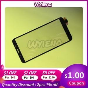 Image 3 - Wyieno Schwarz Sensor Für Huawei P20 lite Y9 Y5 2018 2019 Y6 ii Ehre 8A 8S 7A Touchscreen digitizer Glas Panel 10 teile/los