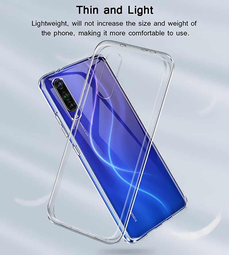 Siêu Mỏng Ốp Điện Thoại Cho Xiao Mi Mi 9T Pro A3 8 9 SE Lite Ốp Lưng Trong Suốt đỏ MI Note 7 8 Pro 7A Silicon TPU Mềm Mại C
