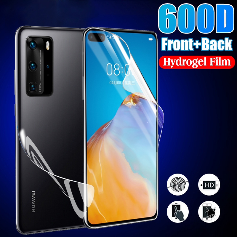 Front+Back Protective Hydrogel Film Full Cover For Huawei P20 P30 Pro P40 Lite E Mate 20 Lite Screen Protector Film Not Glass(China)