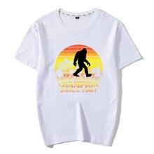 Streetwear Aesthetic Tops New 100% Cotton Novelty Men T shirt Print Bigfoot Sasquatch Hide And Seek World Champion Funny