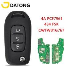 Datong dünya araba uzaktan anahtar Renault Kadjar için Captur Megane 3 Symbol 2013 2017 CWTWB1G767 434 FSK 4A PCF7961 orijinal akıllı anahtar