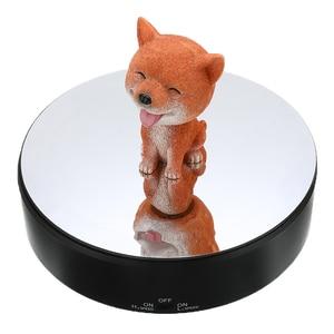 Image 1 - Réglable rotatif 360 degrés rotatif bijoux organisateur bijoux emballage présentoir alimenté par batterie plateau tournant boîte à bijoux
