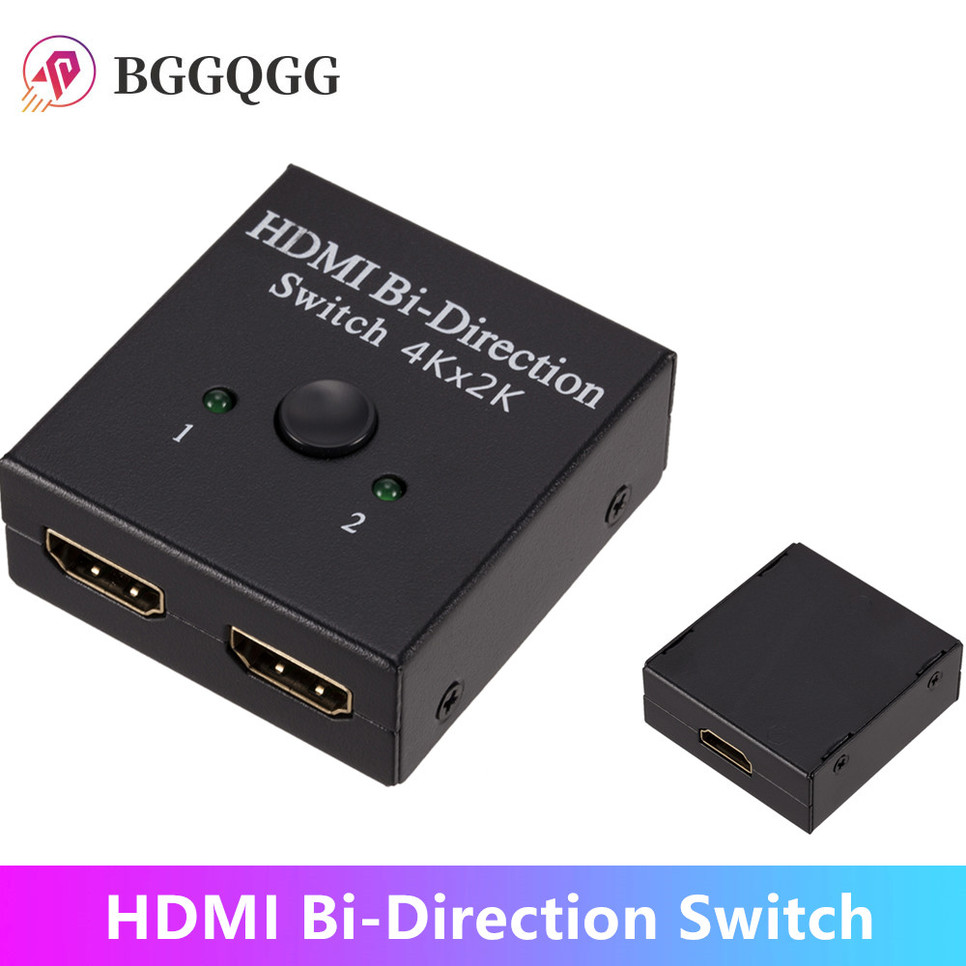 BGGQGG 4K x 2K Switcher UHD 2 порта двунаправленное руководство 2x1 1x2 HDMI AB Switch HDCP Sup порты 4K FHD Ultra 1080P для проектора