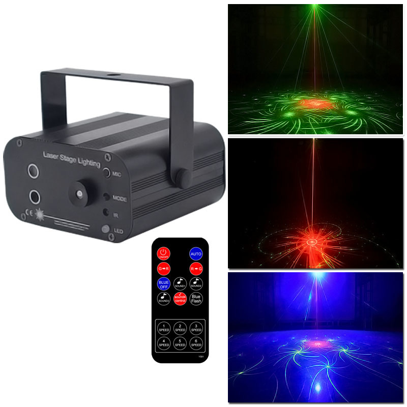 Dj Light Laser Disco Lighting Effect Mini Projector Light Stobe Led Bar Party Lights Projector RGB Stage For Club Ball Part