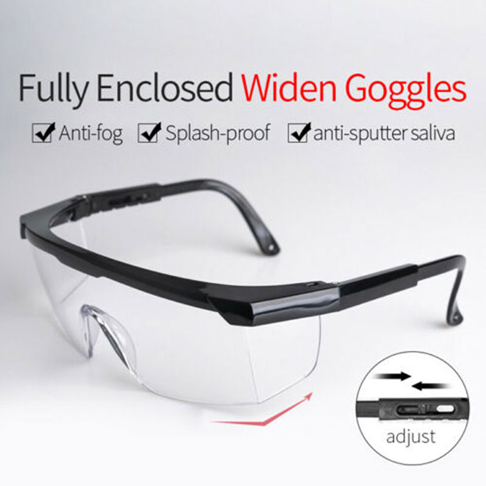 Visiere Protection Foldable Adjustable Anti-fog Safety Goggles Anti Virus Liquid Eye Protection Anti-Droplets Windproof Glasses