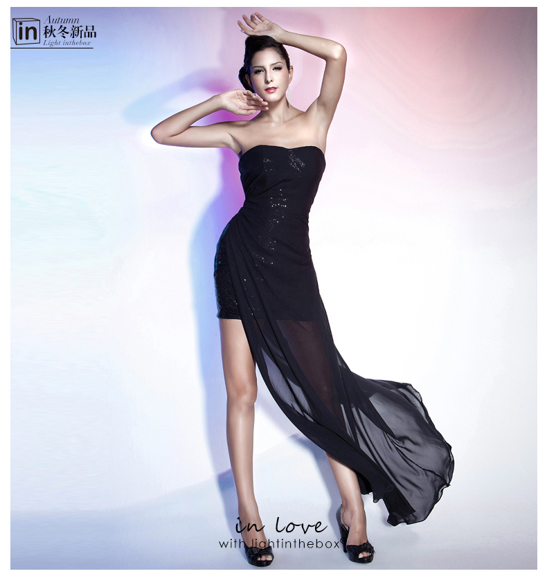 Free Shipping 2018 New Fashionable Hot Sexy Short Mini Vestido De Festa Party Black Prom Women Summer Gown Bridesmaid Dresses