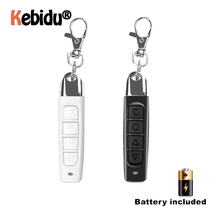 Controle remoto wireless com chaveiro, 433mhz, duplicador de clonagem, 4 botões, elétrico, portátil, controlador de cópia para porta de garagem