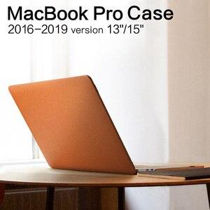 De cuero genuino funda de portátil para MacBook Pro 15 13 de lujo de 2017, 2018, 2019, 15,4, 13,3 pulgadas A1706/A1707/A1989/1990 nueva