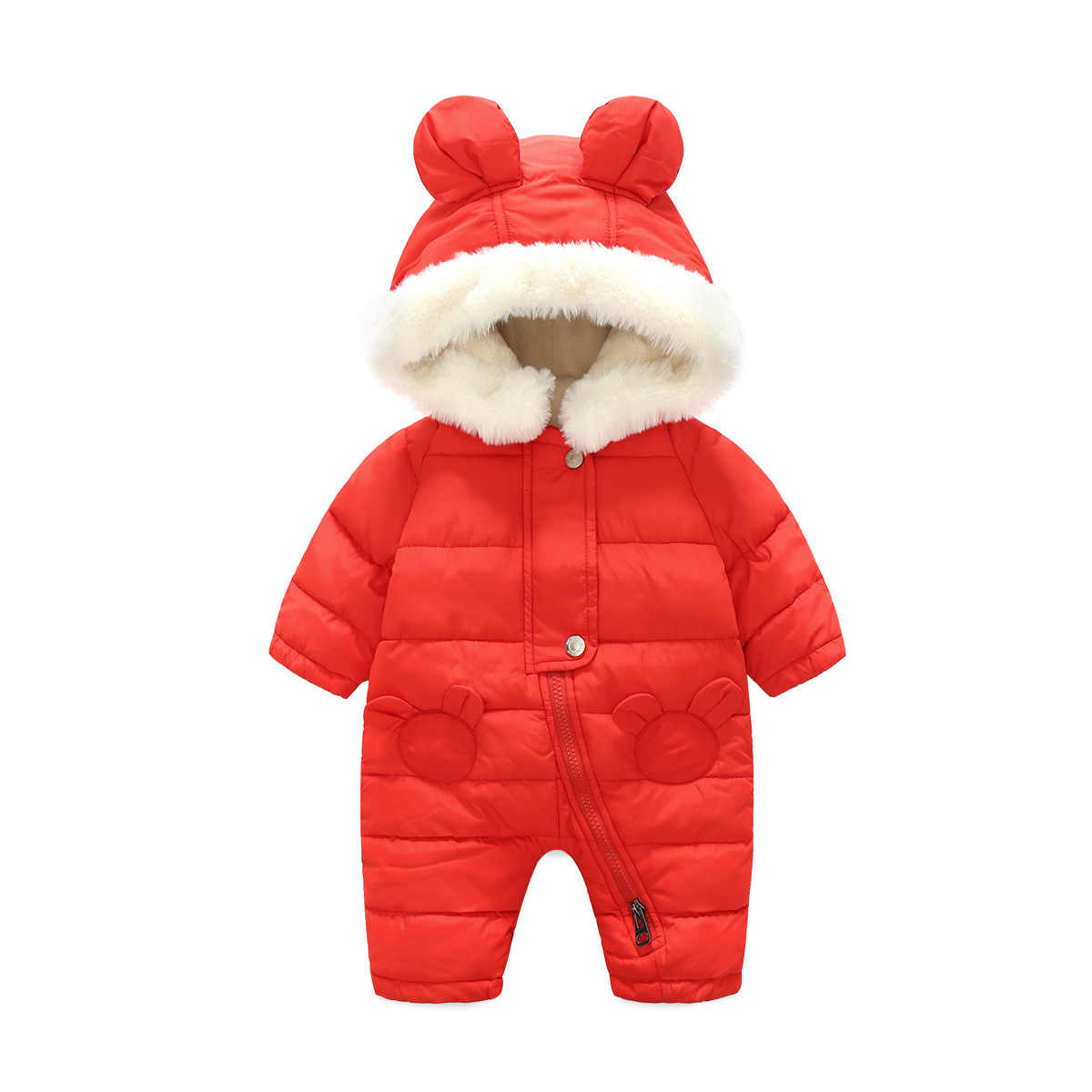 Winter Baby Jumpsuit Newborn Baby Girls Clothes Jumpsuit Warm Snowsuit For Boys Hooded Overalls For Children Unisex Boys Romper