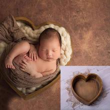 Новорожденный ребенок фотография Любовь Форма кровать реквизит маленький деревянный ребенок Фотография любовь кровать фото реквизит кроватка для маленьких мальчиков и девочек