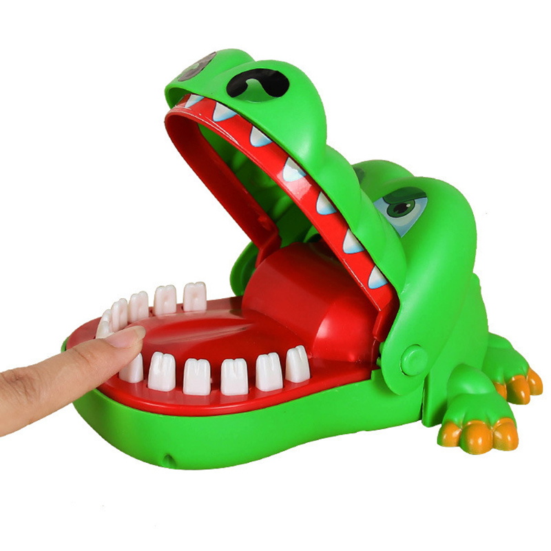 New Crocodile Mouth Dentist Big Mouth Crocodile Biting Finger Game Funny Gift Stress Relief Gags Novelty Toys For Kids Gift