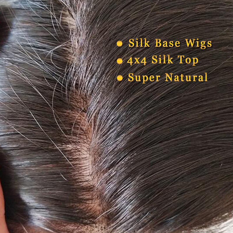 Silk Base Wigs Human Hair Wigs Silk Base Frontal Human Hair Wigs 13×4  Lace Frontal Wig For Black Women Pre Plucked Baby Hair