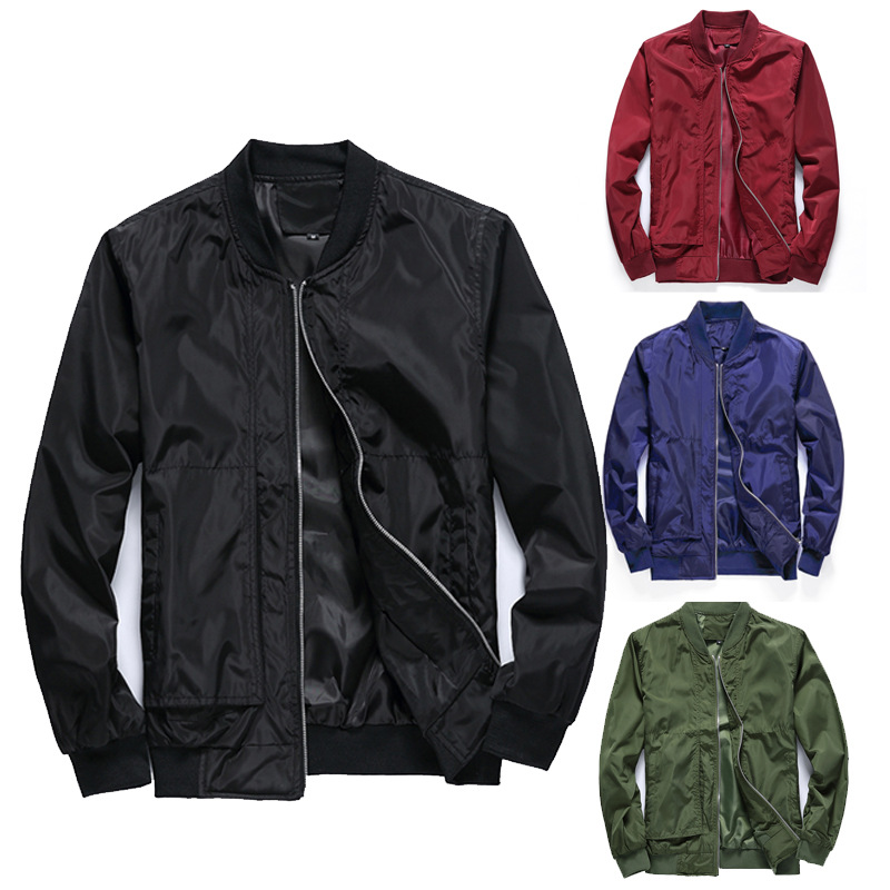 Amazon Spring And Autumn Men Jacket MEN'S Outerwear Korean-style Spring And Autumn Baseball Uniform Flight Thin A Generation Of