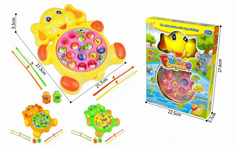 Electric Music Rotating Fishing Plate Set Baby Educational Toy Boys And Girls Children Fishing Toys