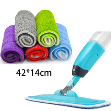 42x14cm Spray Mop Cloth Tags Reusable Microfiber Pads Practical Household Dust Cleaning Floor Cleaner Tools Home Spin Head
