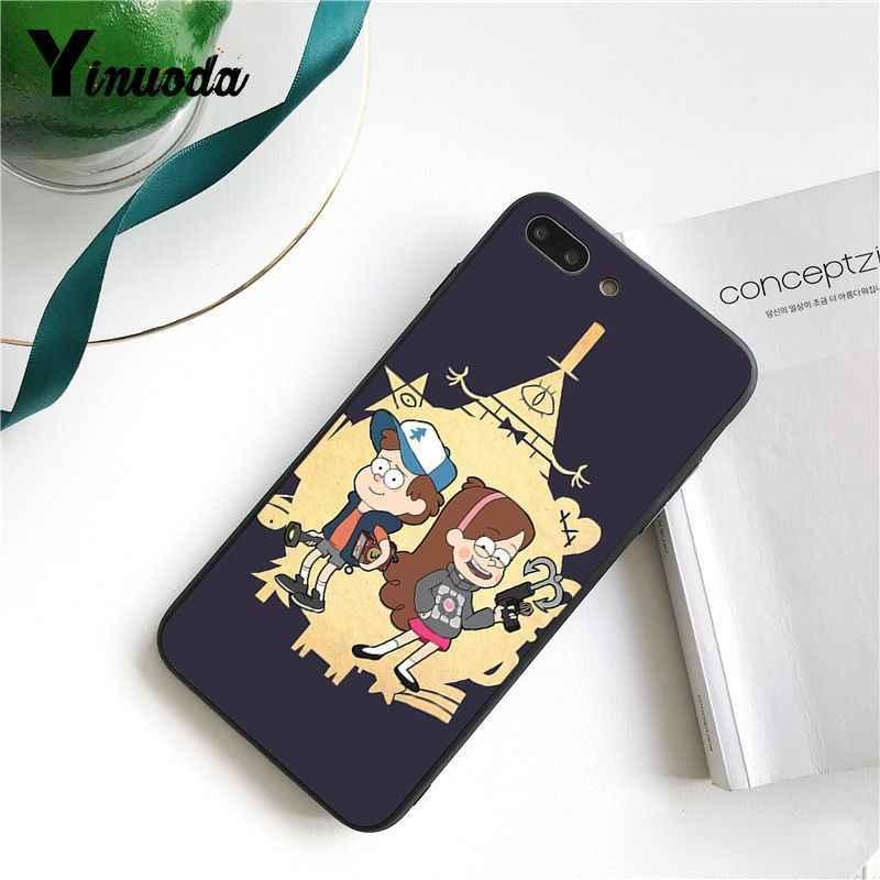 Yinuoda Gravity Falls Mabel Dipper DIY malowane etui na telefon dla iPhone 8 7 6 6S X XS MAX 5 5S SE XR 10 11 Pro Max