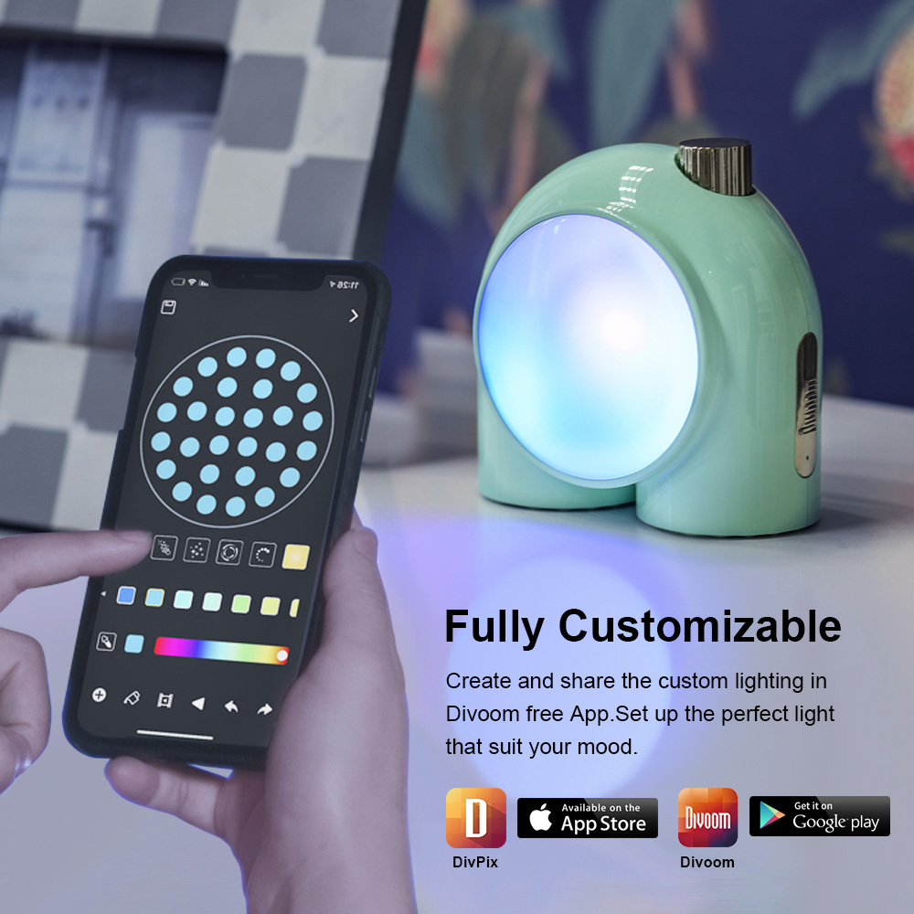 Divoom Planet-9 Programmable RGB LED Lamp 3
