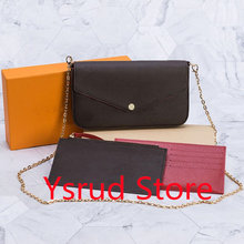 3pcs Set Women Shoulder Bag Messenger Strap Cross Body Bags Ladies Flap Purse Clutch Bags Totes With Box and Dust Bag
