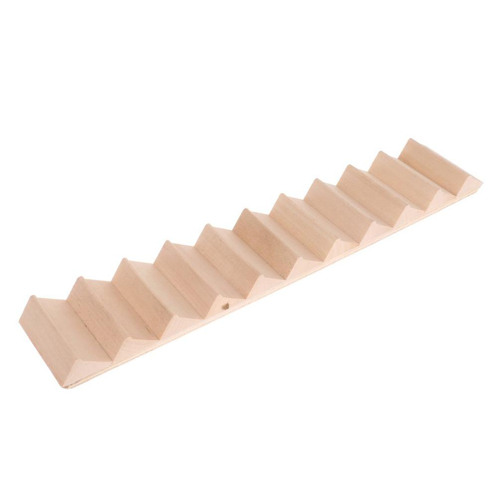1/12 Wooden Staircase Stair Stringer Step Model DIY Miniature Doll House Decor Kids Educational Toys