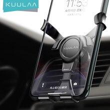 KUULAA – Support de téléphone portable par gravité pour voiture, Clip universel pour ventilation, sans aimant