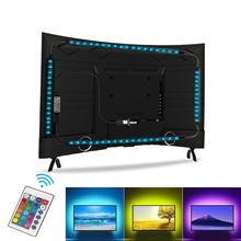 Telewizor LED pasek światła RGB 5050 wodoodporna USB 5v taśma LED 1M 2M 3M 4M 5M elastyczna taśma dekoracja biurka ekran oświetlenie tła do TV tanie tanio CN (pochodzenie) Salon 50000 Przełącznik Taśmy Epistar Smd5050 ROHS USB LED Strip 5050-W 30 pcs m
