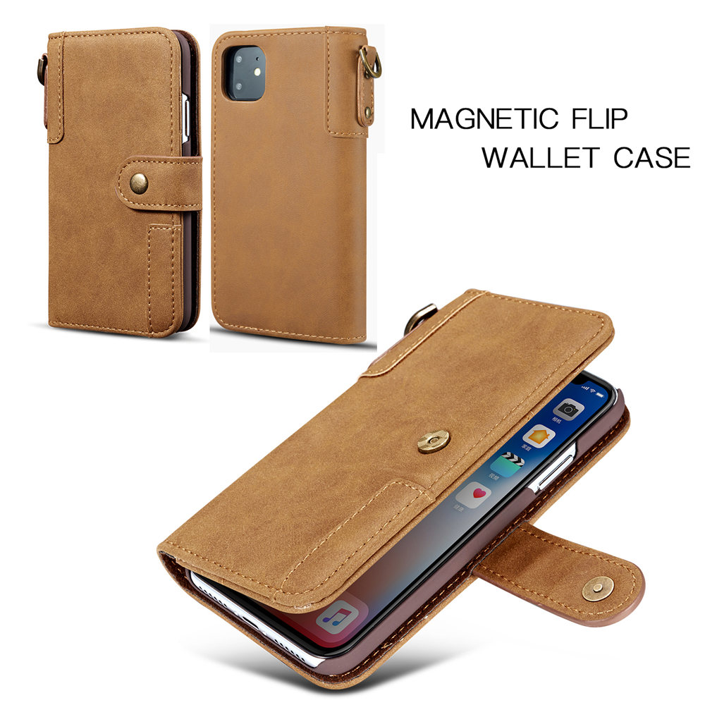 Image 4 - Luxury Magnetic Case for New iPhone 11 Pro Max 2019 XI RX XS MAX XR Leather Wallet Business Book Flip Stand Cover phone case-in Wallet Cases from Cellphones & Telecommunications