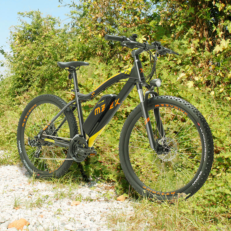 Spor ve Eğlence'ten Elektrikli Bisiklet'de 27.5 inç elektrikli dağ bisikleti 400w arka tekerlek motoru 48v lityum pil eMTB elektrikli off road dağ bisiklet title=