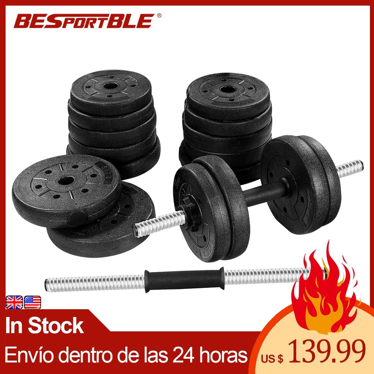 30kg Gewicht Hantel Set mancuernas Pesas Mit Pleuel Kann Gebrauch Als Barbell für Männer Umweltfreundliche Abnehmbare Ausrüstung