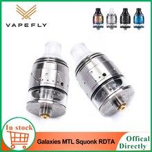 Original vapefly galáxias mtl squonk rdta 2ml capacidade atomizador com anti calor design vape tanque vs vafafly brunhilde rta
