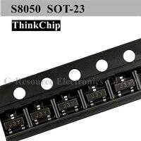 (100 pces) s8050 j3y sot-23 npn smd triode sinal transistor original novo