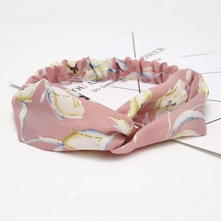 Женская замшевая повязка на голову на лето и осень, Винтажные эластичные резинки для волос с перекрестным узлом, мягкая однотонная повязка для волос для девочек, аксессуары для волос - Цвет: B58